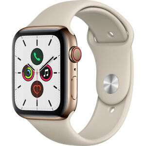 Apple Watch Series 5 44 mm GPS + Cellular (2019 ) Gold Stainless Steel Case - £689 (With Code) @ eBay / AO