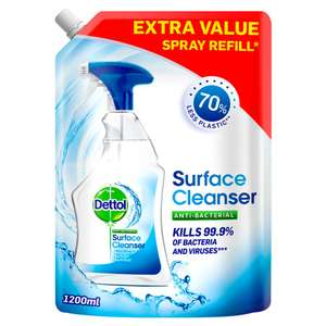 Dettol Surface Cleanser Pouch LARGE Refil 1.2L now £2 Instore and Online at Wilko