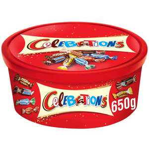 Celebrations Chocolate Tubs £3 instore or add £2 Click and Collect  @ Wilko