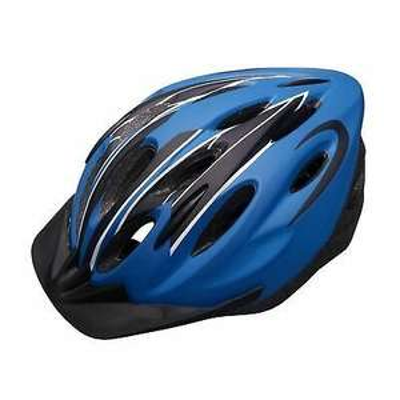 Tesco Fusion Bike Helmet Small With Adjustable Strap And Sun Visor Blue £5 @ Tesco Ebay