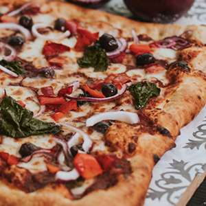 Any ind. 1/4m fiery pizza, free fiery chicken wings and one cold dessert £19.95 firezza