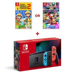 Nintendo Switch Neon Console (Improved Battery) & Select Game £299.99 @ Smyths toys