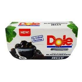 Dole blackcurrant jelly x4 & festival fruit in juice only 75p @ heron