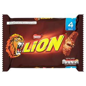 Lion Chocolate Bar Pack of 4 168g 90p at morrisons instore