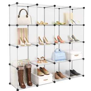 16 Cube Interlocking Modular Plastic Wardrobe Cabinet £17.99 Delivered Sold by Shopping Man and Fulfilled by Amazon