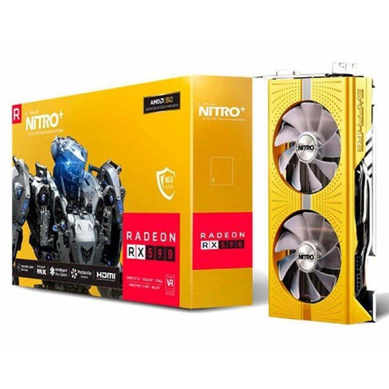 SapphiRadeon RX 590 NITRO+ Gold Edition 8GB GDDR5 Graphics Card £203.46 @ Ebuyer