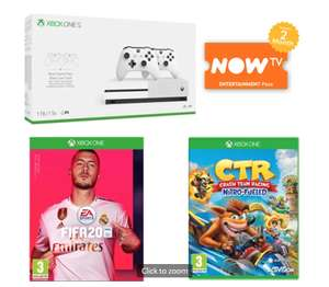 Xbox one S with extra controller, now tv pass, fifa 20, crash team racing £219 @ Game