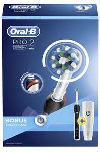 Oral-B Pro 2 2500 CrossAction Electric Toothbrush Rechargeable £30 Amazon