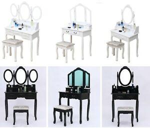 Wooden Dressing Table, Mirror & Stool Set - £44.99 delivered @ hotpremierdeals / eBay