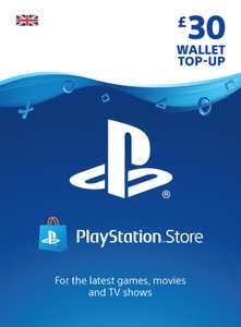 PSN £30 Top Up £25.85 plus others (see description) at Shopto