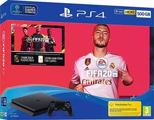 FIFA20 + PS4 500GB £89.99 When you trade in old PS4 machine at GAME