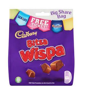 Cadburys Big Share Chocolate  buttons / wispa / caramel nibbles £1.50  Morrisons instore Hatch end