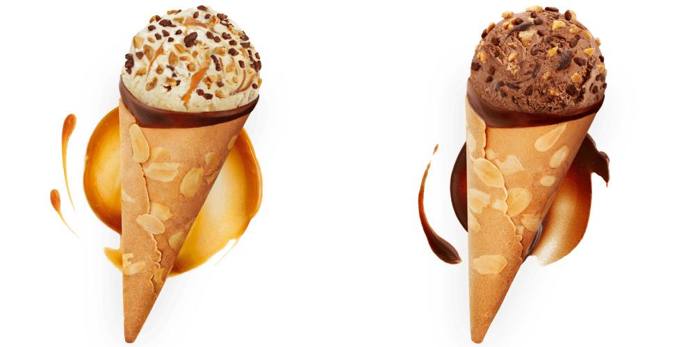 Häagen-Dazs Vanilla Caramel Almond Cone / Chocolate Choc Almond Cone  3 For £1 @ Heron Foods