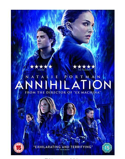Annihilation (DVD) only £3.24 with Prime / +£2.99 non Prime @ Amazon