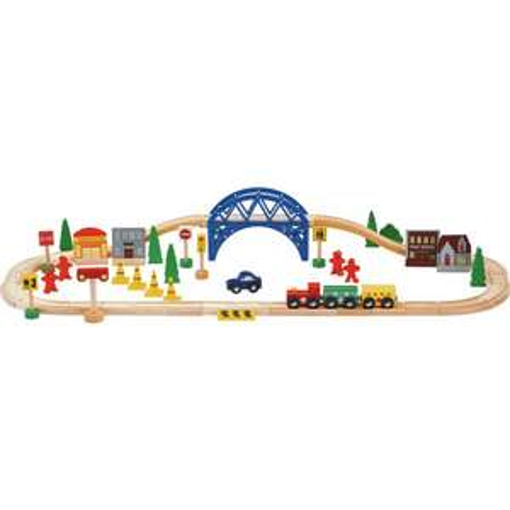 Chad Valley Wooden Train Set - 60 Piece £8.99 @ Argos
