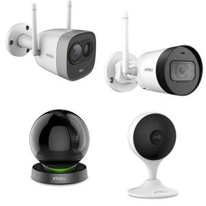 10-20% Off IMOU Alexa & Google Assistant Compatible Cameras + Free Delivery - EG: IMOU Bullet Lite 4mp QHD Wi-Fi Camera £51.99 @ Box
