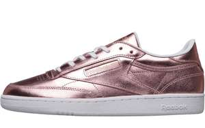 Reebok Classics Womens Club C 85 S Shine Trainers Size 3 up to 7.5 £22.98 or £17.99 with Premier @ M&M Direct