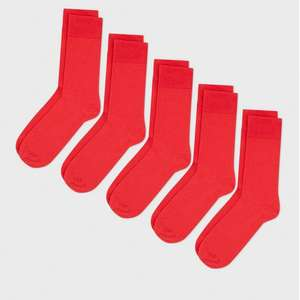 5-Pack Red Socks - £1 @ New Look (P&P - Free With Pass / £1.99 C&C / £3.99 Delivery)