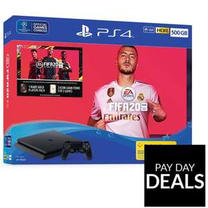 Sony Playstation 4 500Gb/1Tb + FIFA 20 Bundle from £209.99  + 10% Back with Buy Now Pay Later code @ Very