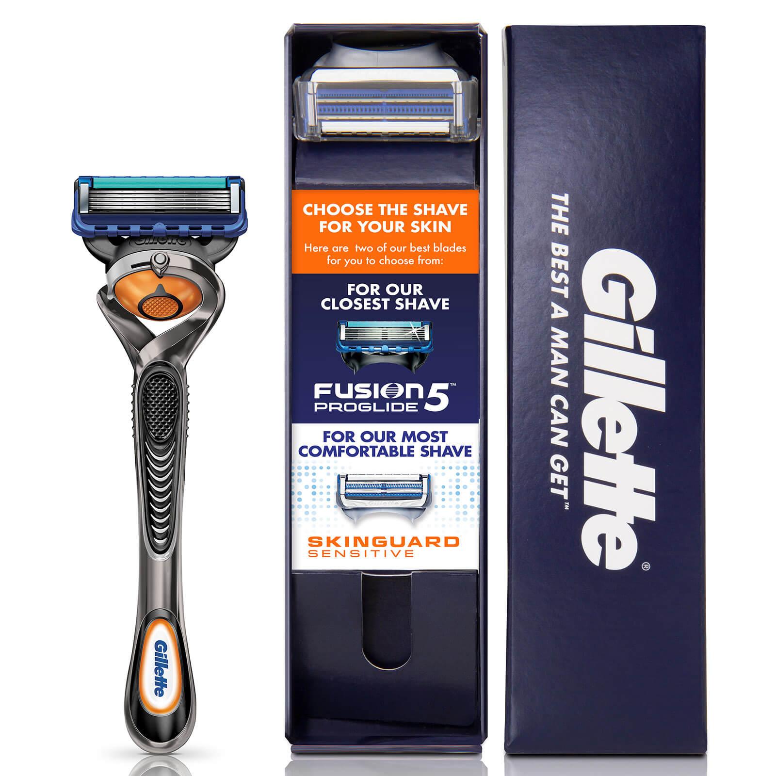 Gillette Fusion5 Men's ProGlide Razor with SkinGuard Sensitive Razor Blade £1.99 with Free Delivery @ Gillette Shop