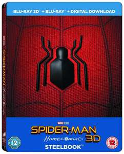 Spider-Man Homecoming Limited Edition 3D Steelbook and Comic Zoom and other steelbooks for £4.99