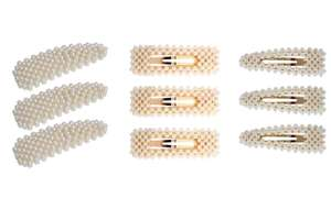 Nine Pearl-Beaded Hair Clips for £9.49 delivered at Groupon