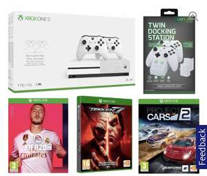 MICROSOFT Xbox One S 1TB with Dual Wireless Controllers, FIFA 20, Tekken 7, Project Cars 2 and Docking Station Bundle £209 Currys PC World