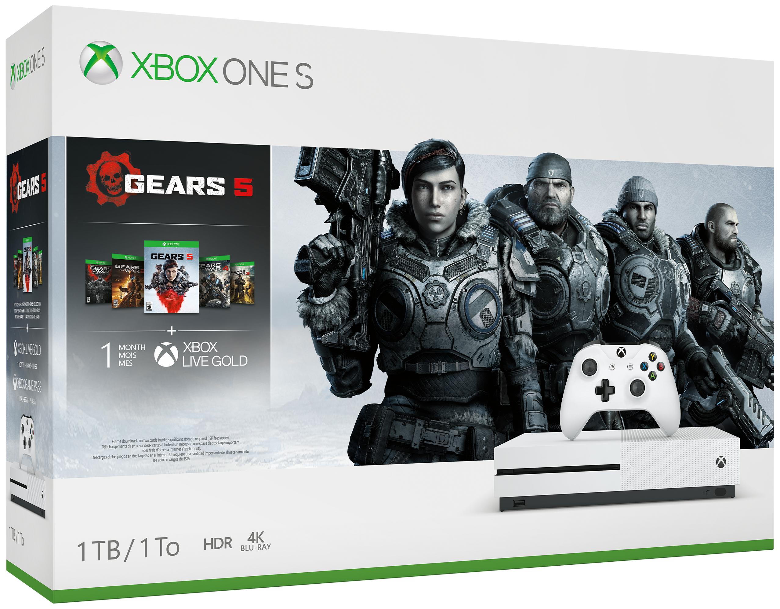 Xbox One S 1TB Console & Gears 5 Bundle + Fifa 20 + Division 2 £199.99 @ Argos