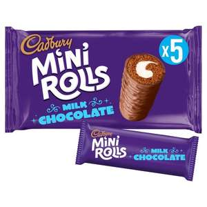 Cadbury Chocolate / Raspberry Mini Rolls 5pk 85p @ Asda (instore and online)