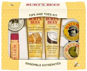 Burt's Bees Tips and Toes Kit Travel Size Natural Products in Gift Box £13.59 (Prime) / £18.08 (non Prime) at Amazon