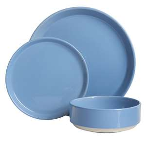 Wilko 12 piece dinner set - various colours £5 in-store in Strood