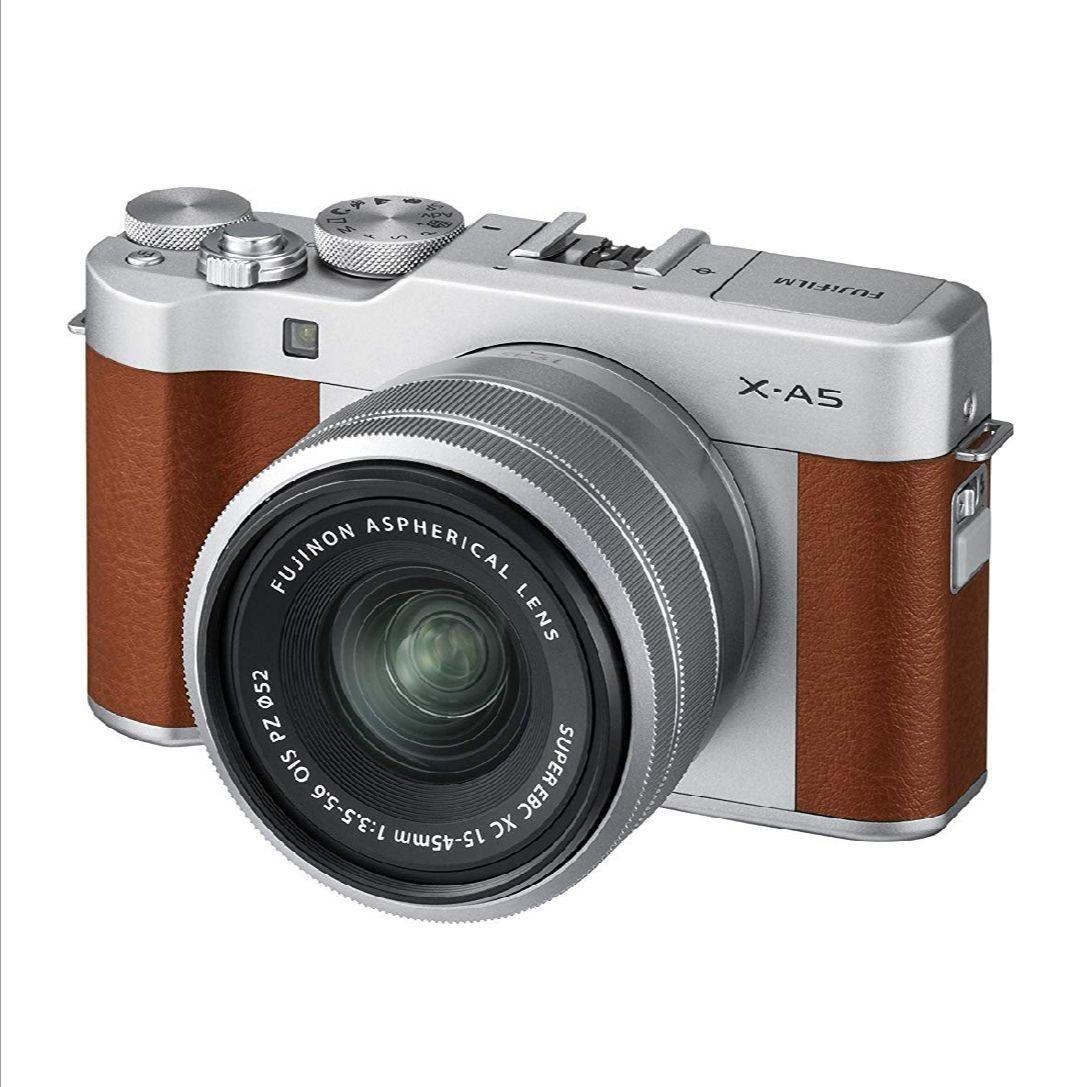 Fujifilm X-A5 (Brown) with Silver XC 15-45 £349 @ Amazon