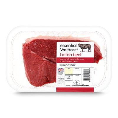 Waitrose - British Beef Rump Steak 230g - £2.33 Waitrose & Partners