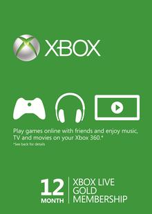 12 Month Xbox Live Gold Membership (Xbox One/360) £35.99 @ CDKEYS