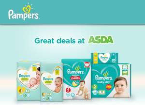 Pampers Nappies Asda Baby Event from £3.95