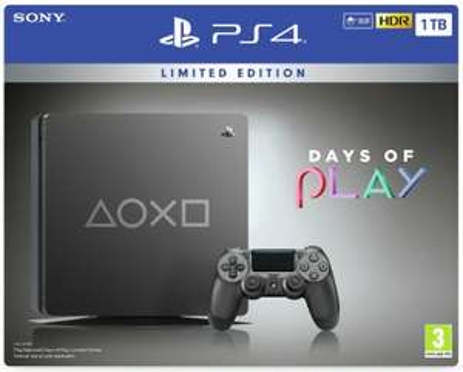 Sony Playstation PS4 1TB Days of Play Special Edition Console - Black £219.94 @ Argos eBay