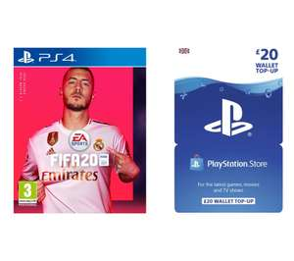 Fifa 20 (PS4) + £20 PSN Gift Card - £59.99 Currys