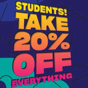 20% off for all students including full price and sale items at Schuh