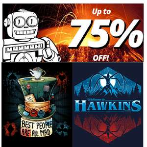 Qwertee T-Shirt Sale, T's from £7 at Qwertee