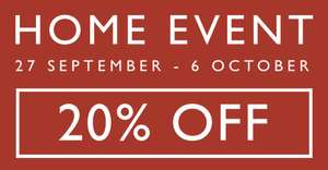 John Lewis 20% Off Home event