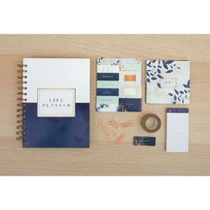 Rose Gold Marble B5 Planner Starter Set - £3.74 instore only @ The Range Peterborough
