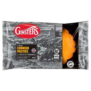 Ginsters Cornish Pasties twin pack £1 at Asda instore