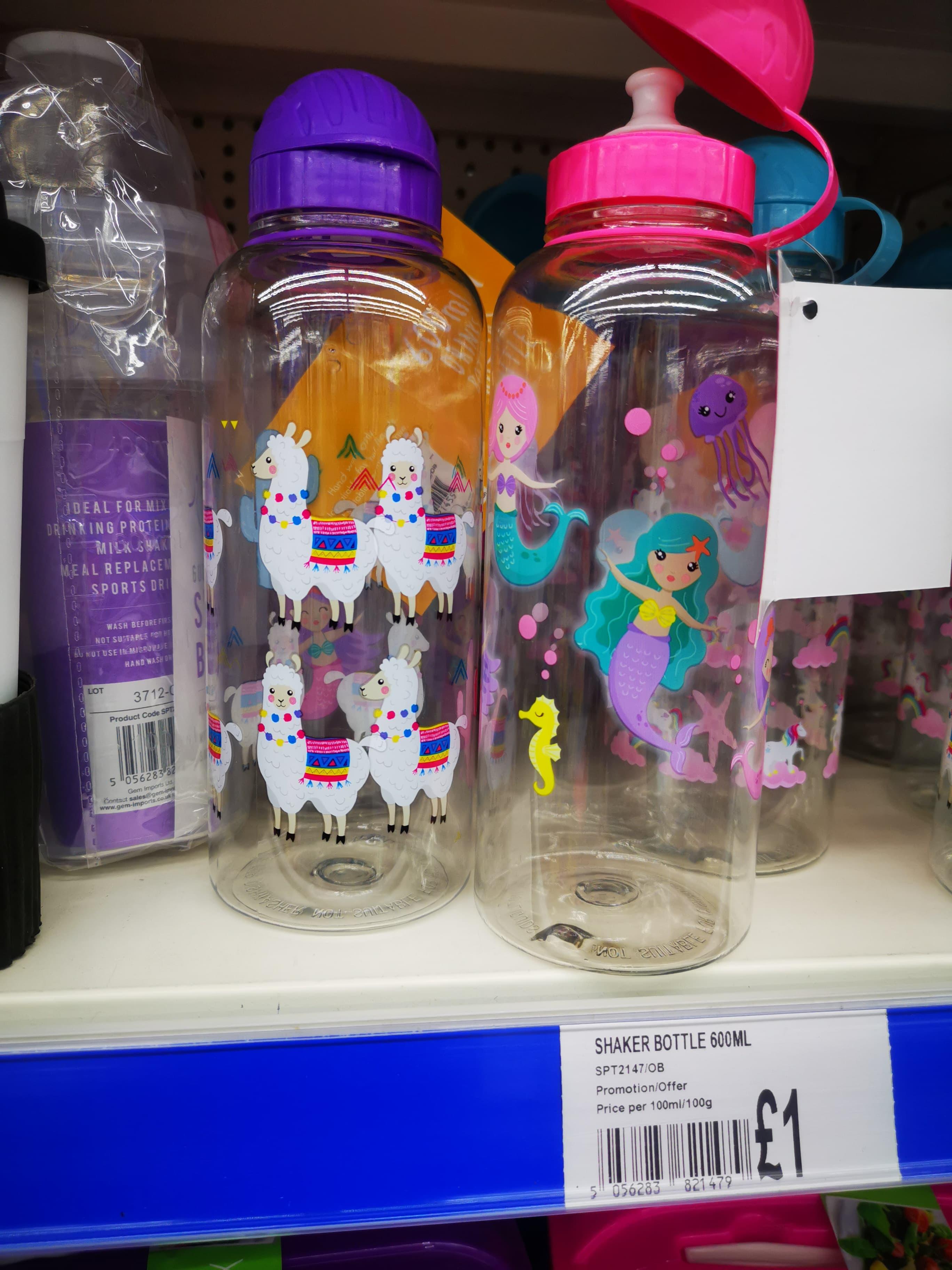 Llama or Mermaid 600ml Water Bottle, £1 In Store @ OneBelow, Argyle Street, Glasgow