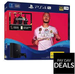 Playstation 4 PS4 PRO FIFA 20 Bundle £299.99 (£249.99 For New Customers) @ Very