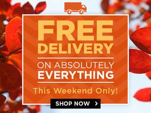 Free delivery on everything this weekend  only @ Mountain Warehouse
