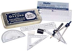 Helix Oxford Set of Mathematical Instruments - £2 instore @ Wilko (Wimbledon, London)