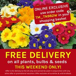 Thompson & Morgan - Free Delivery This Weekend Only!  With no Minimum Spend