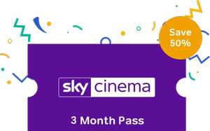 Sky Cinema 3 Month Pass at £5.99 (per month) @ Now TV