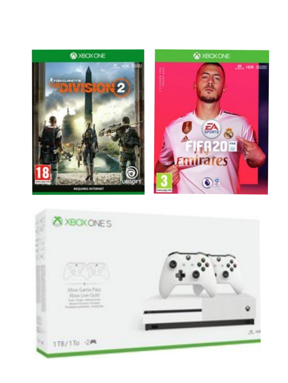 Xbox One S 1tb Dual Controller Bundle & Fifa 20 & The Division 2 £199.99 @ Argos