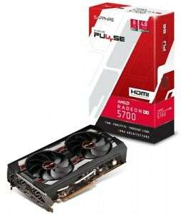 Sapphire Radeon RX 5700/RX 5700 XT 8GB Pulse Graphics Card, £330.29 / £379.57 with code @ CCL / ebay (Free game pass)